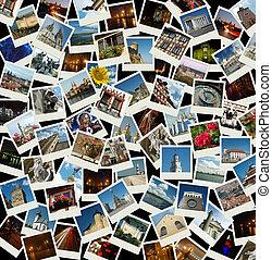 -, pohybovat se, cestovat, grafické pozadí, orientační bod, evropský, fotit, evropa