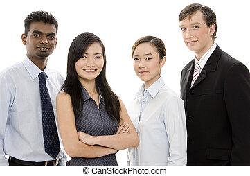1, rozmanitý, business četa