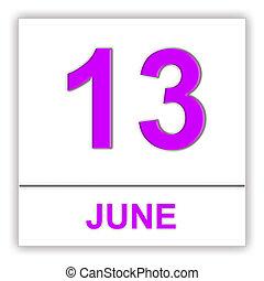 13. června. Den v kalendáři.