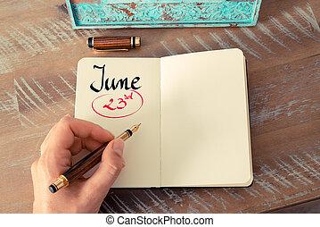 23. června, den psaní na denní den
