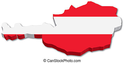 3 austria mapa s vlajkou