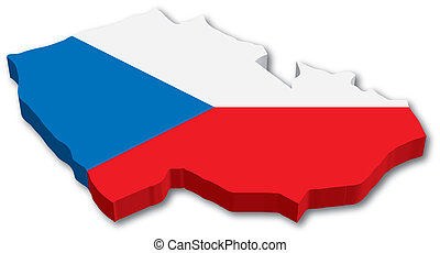 3 cm mapa s vlajkou
