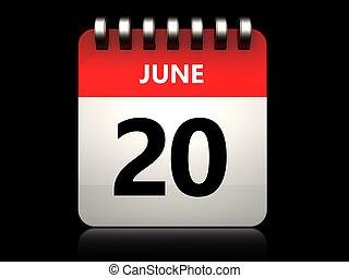 3D 20 june kalendář