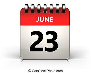 3D 23 june kalendář