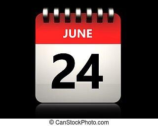 3D 24 june kalendář