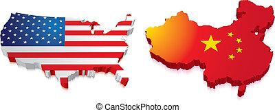 3D mapa porcelánu a nás s vlajkou