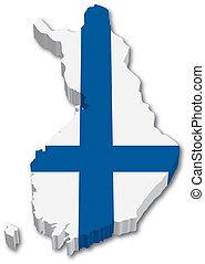 3D mapa s vlajkou