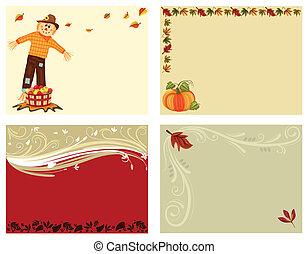 4, dát, karta, podzim