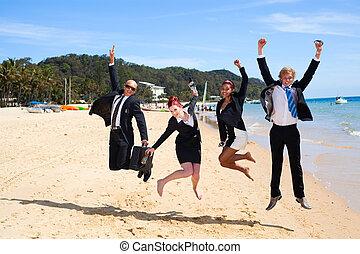 4 obchodníci skáčou