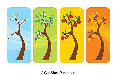 4 období, strom