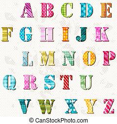 abeceda, textured