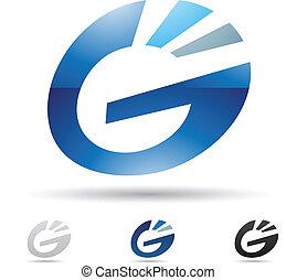 abstraktní, dopisy g, ikona