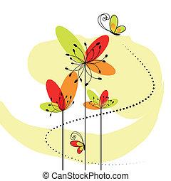 Abstraktní jarní květina