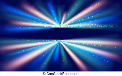 abstraktní, pevně, vektor, potok, tunel, odsun, data, grafické pozadí.
