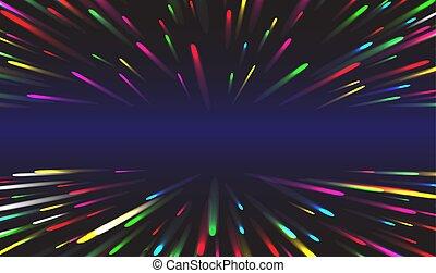 abstraktní, pevně, vektor, potok, tunel, transfer., data, grafické pozadí., ilustrace