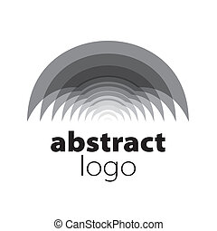 abstraktní, spektrum, vektor, plochy, emblém, oblý