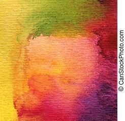 Abstraktní vodní barva