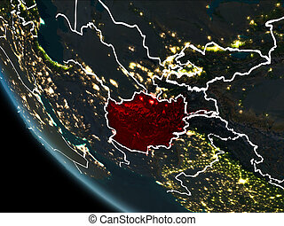 afghánistán, satellite ohledat, večer