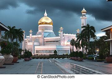 ali, saifuddin, brunei, omar mešita, sultán