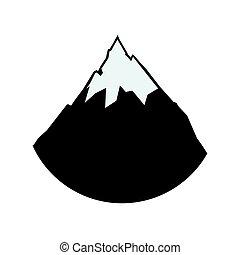 Alpine Mountain s vektorem ilustrace