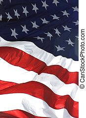 Americká vlajka, vertikální pohled