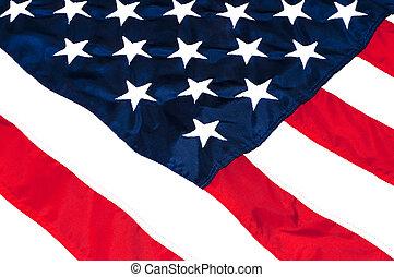 Americká vlajka zavřená