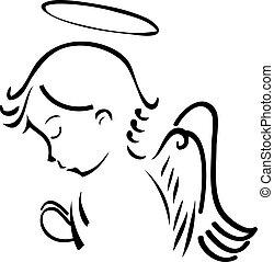 Angel se modlí