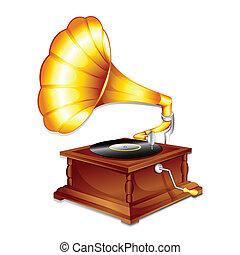 antický, gramaphone