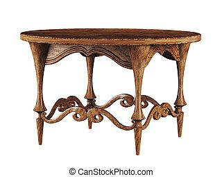 antický, round poloit na stůl, 3