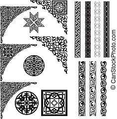 Arabské ornamenty a dělníci