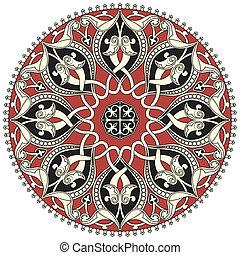 Arabský kruhový vzor