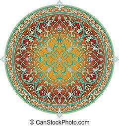 Arabský vzorový vzor sír, arabský skalní vzor