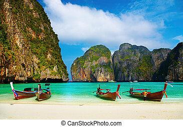 arkýř, obrazný, maya, pláž, thajsko