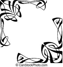 Art deco rohy