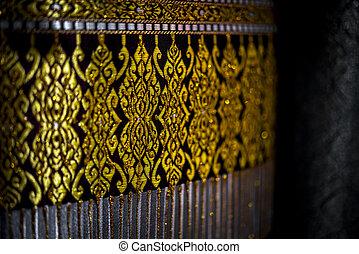 asie, thai, hedvábí, móda, látka, tradiční