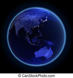 austrálie, asie