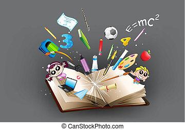 aut, cíl, školství, kniha, dorůstající