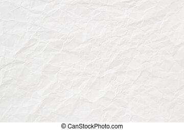 Bílá zmačkaná papírová struktura nebo pozadí