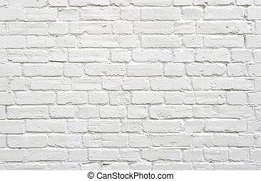 Bílé cihlové zdi