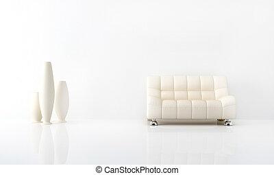 Bílý interiér