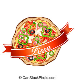 běloba grafické pozadí, pizza