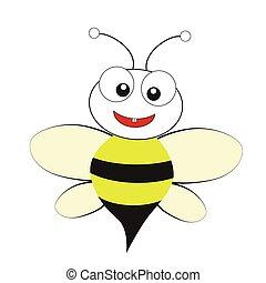 běloba grafické pozadí, včela