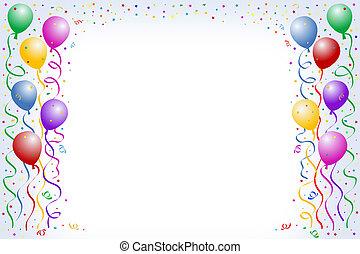 balloon, narozeniny
