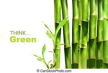 bambus, narovnal na hromadu, hna, stěna