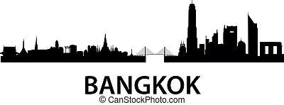 bangkok, městská silueta