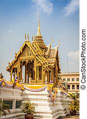 bangkok, palác, důležitý, thajsko