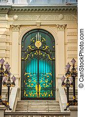 bangkok, thajsko, dveře, palác, důležitý