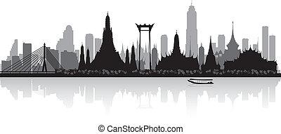 bangkok, thajsko, městská silueta silhouette, město