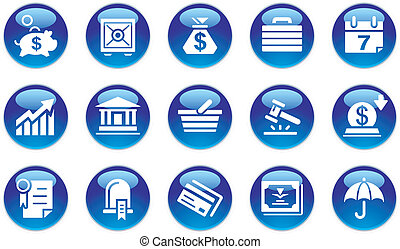 bankovnictví, dát, i kdy, business ikona