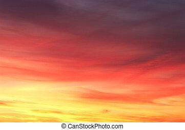 Barevná struktura oblohy